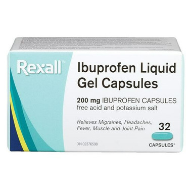 Rexall Ibuprofen Liquid Gel Capsules 200mg