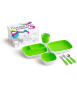 Munchkin Color Me Hungry Toddler Dining Set Green