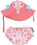ZOOCCHINI Swim Diaper & Sun Hat Set Seahorse