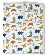 Little Unicorn Cotton Muslin Quilt Big Kid Dino Friends