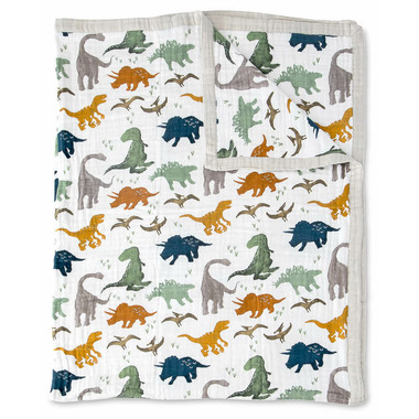 Little Unicorn Cotton Muslin Quilt Big Kid Dino Friends