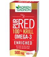 Adrien Gagnon PurRed 100% Krill 500 mg