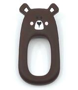 Little Cheeks Bear Teether Brown