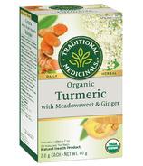 Traditional Medicinals Organic Turmeric Meadowsweet & Ginger Tea