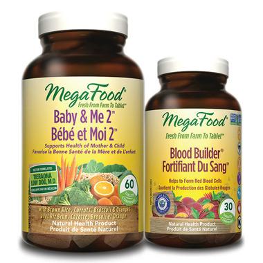 MegaFood Baby & Me 2 Multi-Vitamin with Bonus Blood Builder