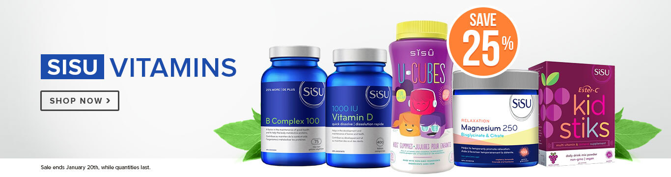 Save 25% on Sisu Vitamins