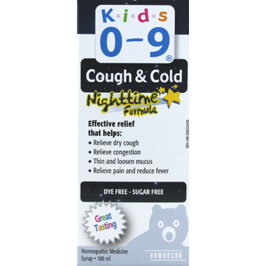 Homeocan Kids 0-9 Cough and Cold Nighttime Formula Syrup
