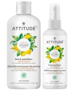 Ensemble de désinfectant pour les mains Attitude Super Leaves Lemon Leaves