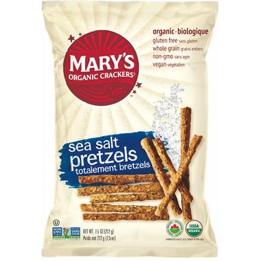Mary\'s Organic Crackers Sea Salt Pretzels