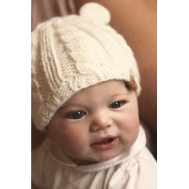 Bedford Road Off White Knitted Hat With Ears