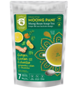 Moong Pani (Mung Bean) Soup-Tea Ginger, Lemon And Cilanto With Turmeric