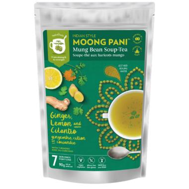 Moong Pani (Mung Bean) Soup-Tea Ginger, Lemon And Cilanto With Turmeric