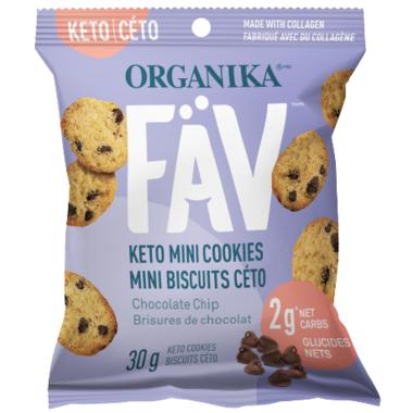 Organika FAV Keto Mini Cookies Chocolate Chip
