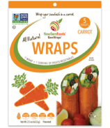 NewGem Foods GemWraps Enveloppes entièrement naturelles Carotte