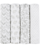 aden + anais x tea Classic Swaddles Savanna Animals