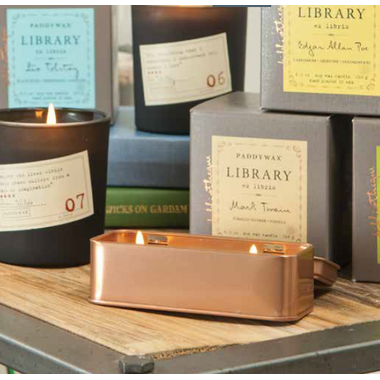 Paddywax Library Two Wick Travel Tin Candle Jane Austen