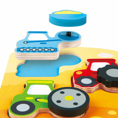 Hape Toys Dynamic Construction Puzzle