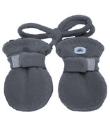 Calikids Fleece Baby Mittens with Cord Graphite