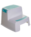 Dreambaby 2-Up Step Stool Aqua and White