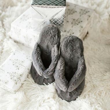 Pudus Flip-Flop Slippers Grey