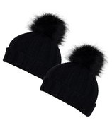 Calikids Mom & Tot Cashmere Touch Hat Black