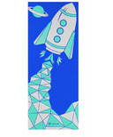 Gaiam Kids Printed Yoga Mat Blue Rocket