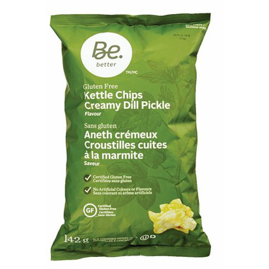 Be Better Gluten Free Kettle Chips Creamy Dill Pickle