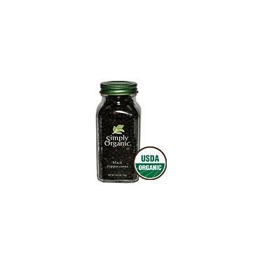 Simply Organic Whole Black Peppercorns