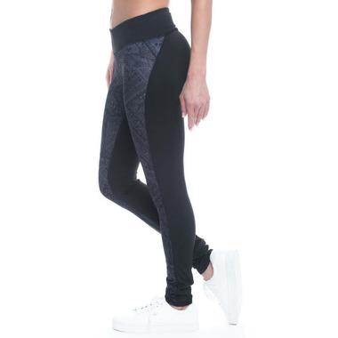 Gaiam Luxe Om Yoga Legging Odyssey Gray Adorned Print