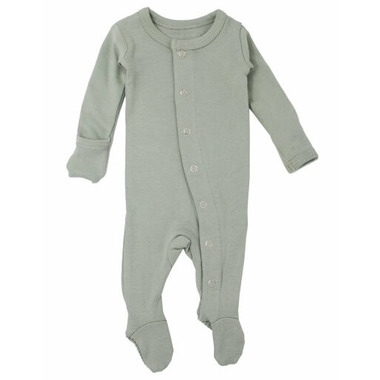 L\'oved Baby Organic Footed Overall Seafoam