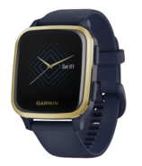 Garmin Venu Sq Music Navy with Light Gold Bezel