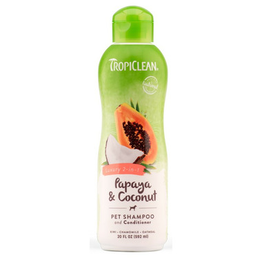 TropiClean Papaya & Coconut 2-in-1 Shampoo & Conditioner