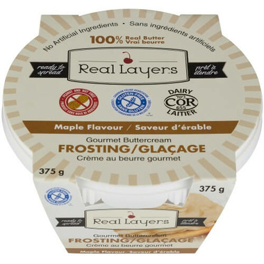 Real Layers Gourmet Buttercream Frosting Maple Flavour