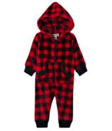 Hatley Little Blue House Infant Hooded Fuzzy Fleece Jumpsuit