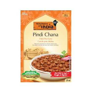 Kitchens Of India Chick Pea Curry Pindi Chana