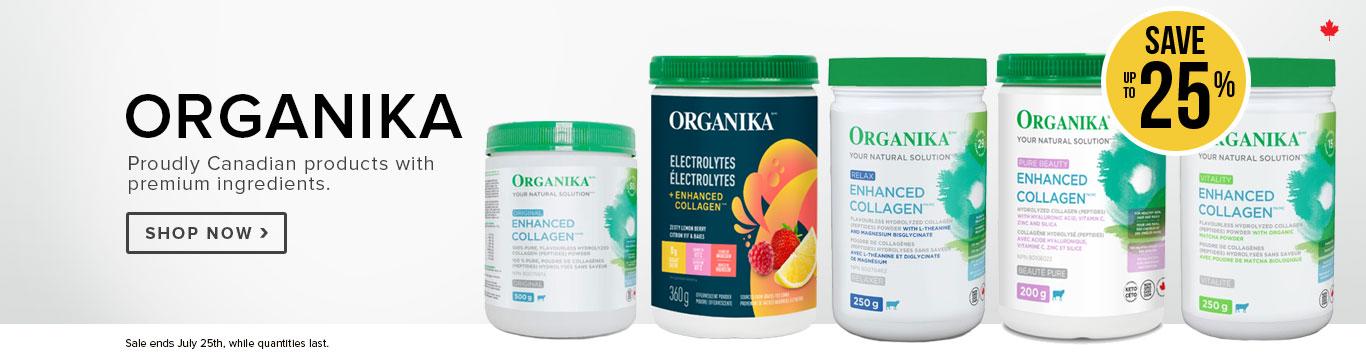 Save up to 25% on Organika