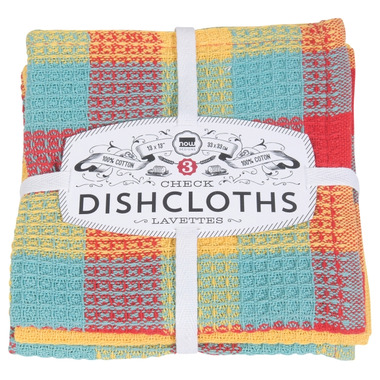 Now Designs Dishcloth Set Lemon Check