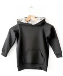Today's Modern Bebe Child Hooded Sweater Charcoal