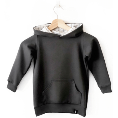 Today\'s Modern Bebe Child Hooded Sweater Charcoal