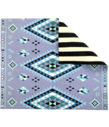 Play with Pieces Blue Moroccan & Stripe Play Mat
