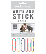 Stuck on You Write on Labels Stick on Grey