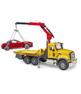 Bruder Toys New Mack Granite Tow Truck with Roadster