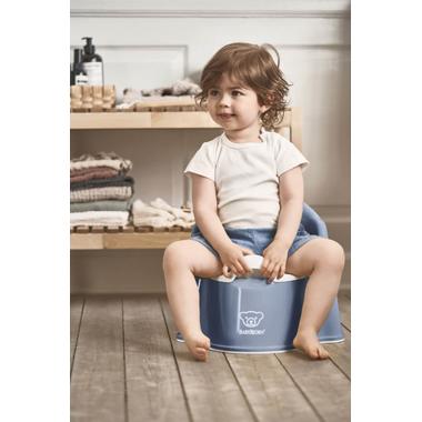 BabyBjorn Potty Chair Deep Blue & White