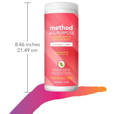 Method All-Purpose Cleaning Wipes Pink Grapefruit