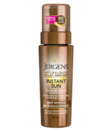 Jergens Natural Glow Instant Sun Sunless Tanning Mousse Deep Bronze