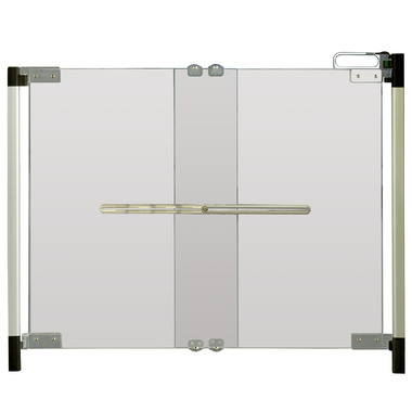 Qdos Crystal Hardware Mounted Gate