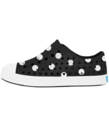 Native Jefferson Child Jiffy Black Shell White & Polka Dots