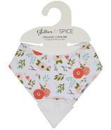 Glitter & Spice Organic Chew Bib Poppies