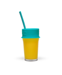 Luumi Unplastic Silicone Lid and Straw Teal