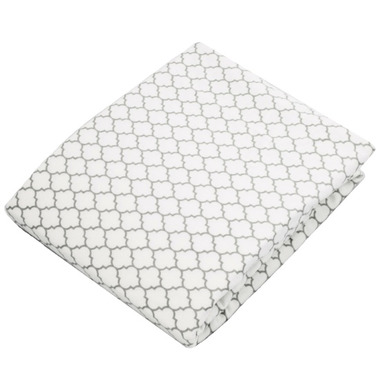 Kushies Flannel Bassinet Pad Fitted Sheet Ornament Grey